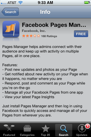 manage agency facebook page iphone