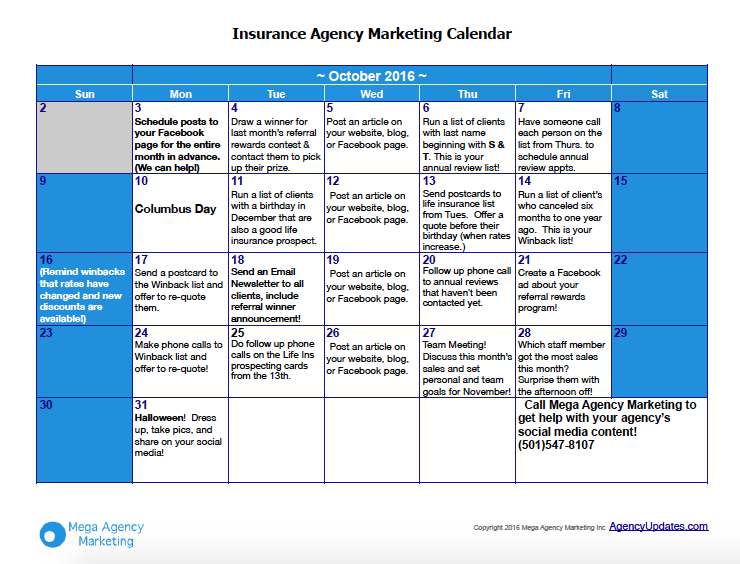 october-insurance-marketing-plan