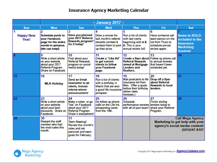 If You Enjoyed This Article, Get The Insurance Marketing Calendar (itu0027s  Free)