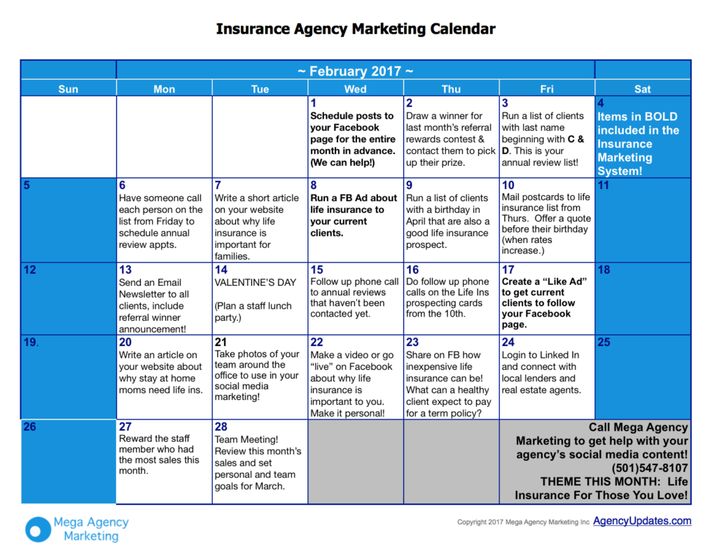 February Insurance Marketing